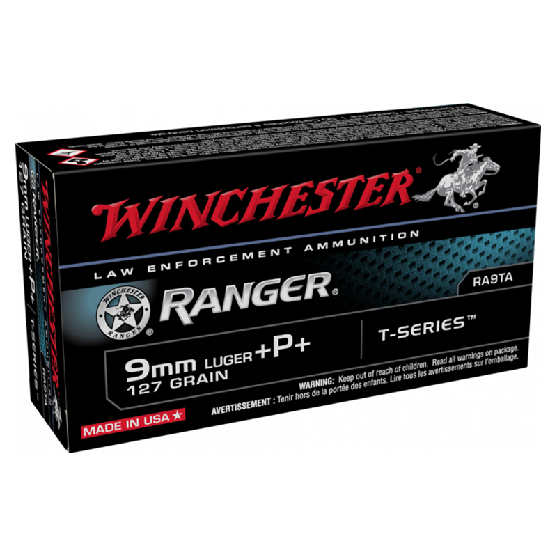9MM LUGER 127GR WINCHESTER RANGER T +P+ (50)