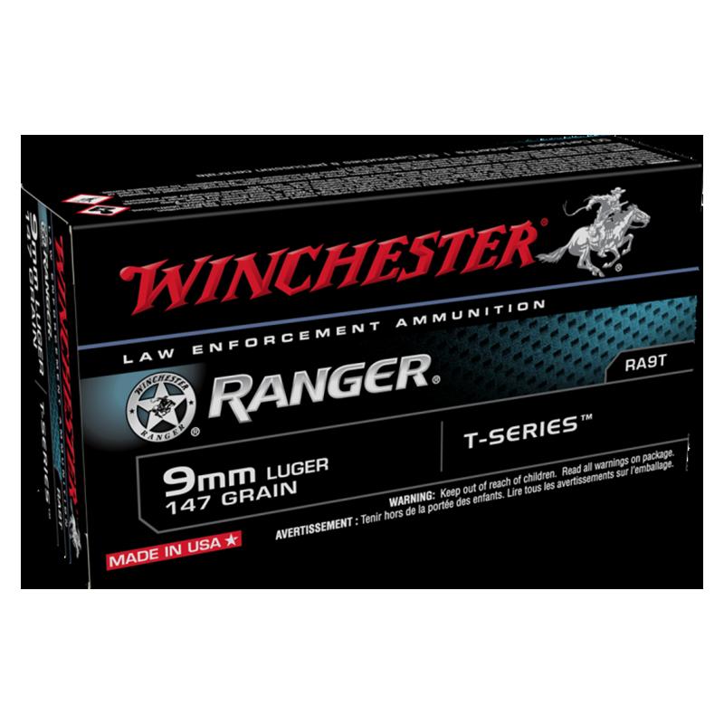 9MM LUGER 147GR WINCHESTER RANGER T